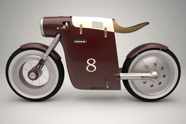 Unique  Motorcycles Ossa Monocasco Concept Bike by Art Tic Team