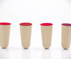 Out of Balance Plywood Stool by Thorsten Franck