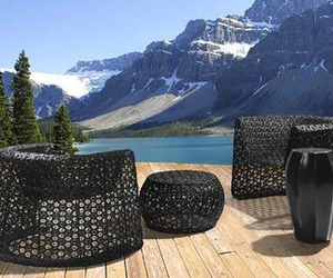 Outdoor Black Lace Furniture