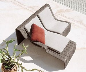 Outdoor Chaise Lounge Frame by Paola Lenti
