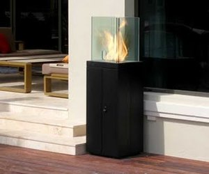 Outdoor Tower Fireplace from EcoSmart