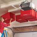 Overhead Storage System On the Garage Ceiling