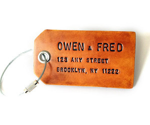 Owen and Fred Luggage Tag