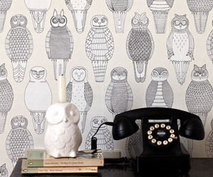 Owls of the British Isles Wallcovering