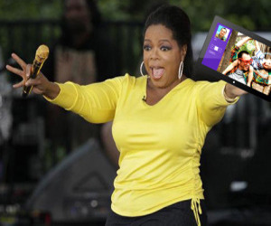 OWNED - Oprah Promotes The Microsoft Surface From Her iPad
