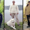 Owners Wearing Sweaters Knit with Their Dogs' Fur