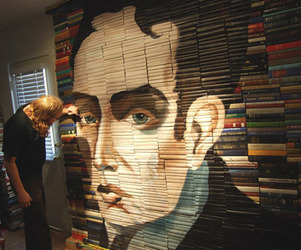 Painted Book Sculptures by Mike Stilkey