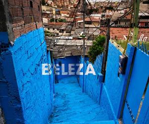 Painting a Suburb in Sao Paulo, Brazil by Boa Mistura