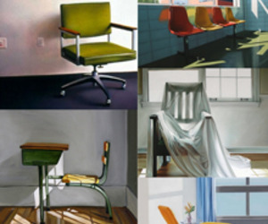 Paintings of Chairs by 5 Different Artists
