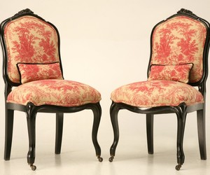 Pair Antique Napoleon III Sidechairs