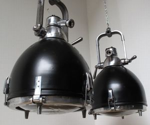 Pair of East German spotlights