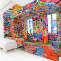 'Panic Room' Graffiti Hotel by Tilt