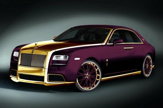 Quot Paris Purple Quot 24 Crat Gold Rolls Royce Ghost