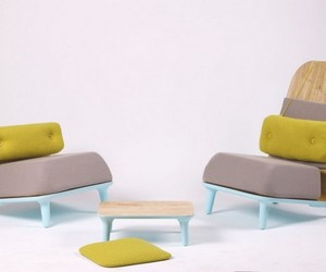 Pastel Low Chairs by Jovana Bogdanovic
