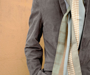 Patching Scarves from Men's Suit Cloth
