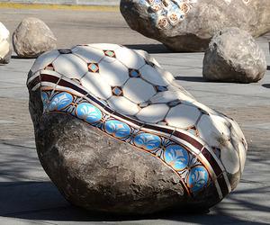 Patterned Boulders by Portuguese artist Dalila Gonçalves