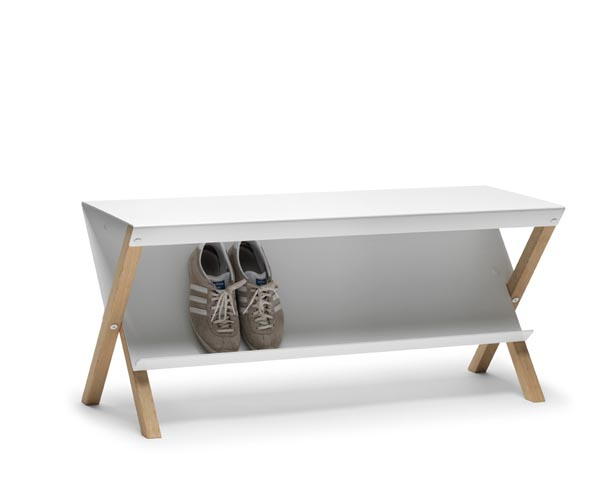 Pause A Bench With Shoe Storage By Outofstock For Bolia