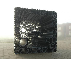 Pavillion Made of PVC Tubes