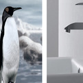 Penguin faucet made by Fluid