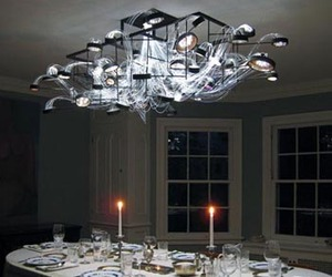 Petri Dishes Chandelier Bacterioptica