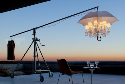 philippe starck reinterprets baccarat chandelier. Black Bedroom Furniture Sets. Home Design Ideas