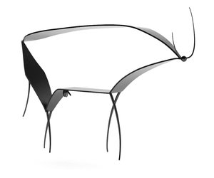 Abstract Picasso Bull Console