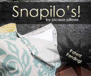 Picasso Pillows - a new pillow, just snaps away!