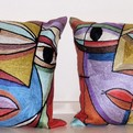 picasso silk cushioncovers