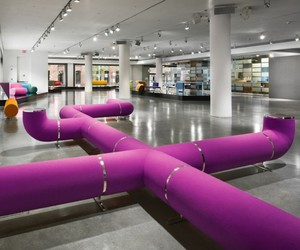 Pipeline Sofa for Waiting Room by Harry Allen