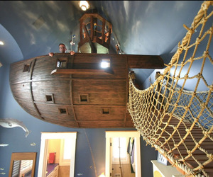 Pirate Ship, Climbing Wall, Golf Simulator - in one house!