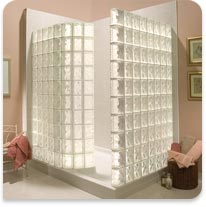 Pittsburgh Corning Glass Block Shower Kit