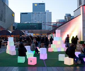 Pixels, interactive art installation