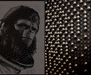 Planet of The Apes'  Ball Bearings Portraits