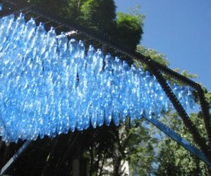 Plastic bottle roof shade