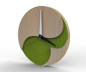 Plywood Clock - ZEN Garden