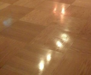 Homemade Plywood Parquet Floor