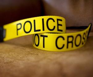 Police Line Do Not Cross Camera Strap