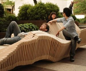 Polymorphic- a kinetic installation in form of bench