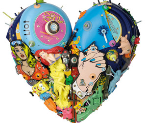 Pop Culture Heart Shaped Sculptures