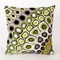 Pop Swirl Grey/Green Pillow by Liora Manne
