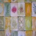 Porcelain Leaf Tiles by John Newdigate