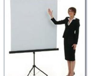 Portable lightweight projection screen