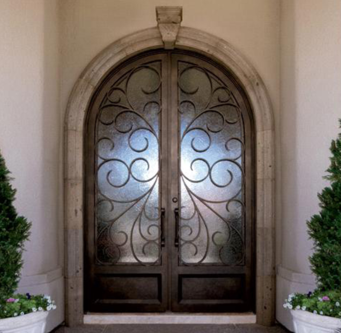 Portofino iron entry door by colletti design for Door design of iron