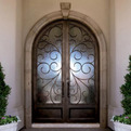 Portofino Iron Entry Door by Colletti Design