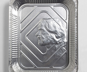 Portraits Embossed on Foil Pans