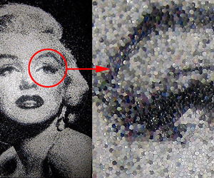 Portraits Made With Hole Punch Dots