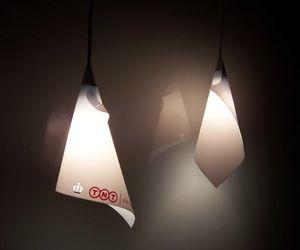 Postcard lamp illuminates your den in style