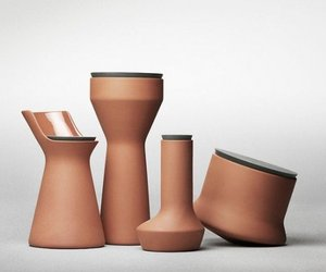 POTS, terracotta custom storage jars | Benjamin Hubert