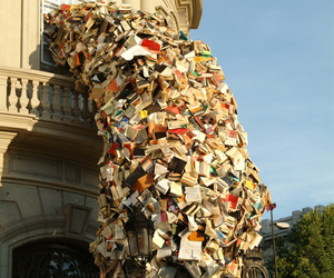 Pouring Book Installation by Alicia Martin