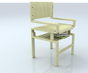 Practical Chair With Book Shelves